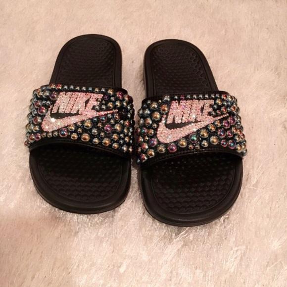 f1b3ee3f2de24 Custom Nike Benassi Slides NWT